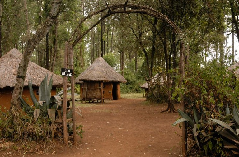 Luo village at the Bomas of Kenya