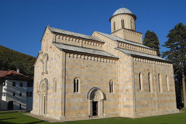 The old monastery of Decan in Kosovo, one of the most important monuments of cultural heritage in the country