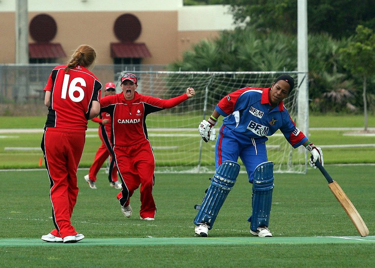 Mikaela_Turik_taking_a_caught_and_bowled_catch_against_Bermuda