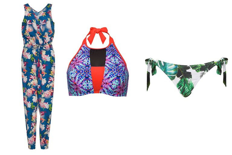 Mix and match tropical island prints