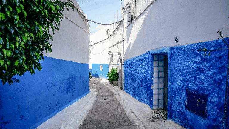The streets of Rabat, Morocco
