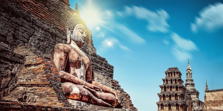 Thailand's Buddhist history contributes to the safety and nonviolent philosophies of its modern society