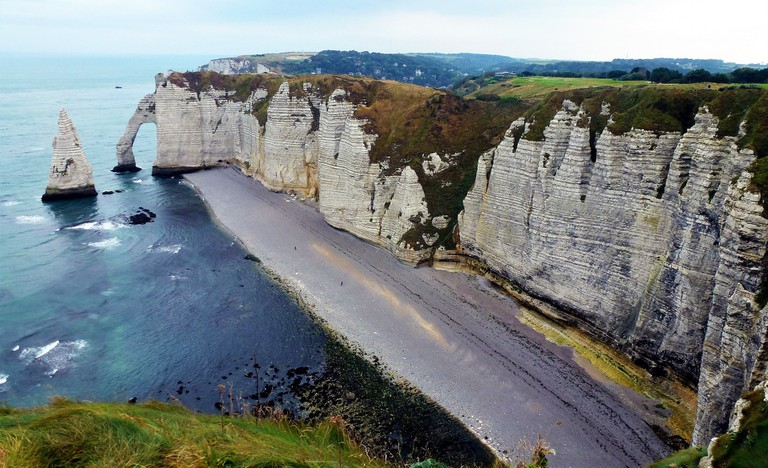 The historic cliffs of Étretat, Normandy