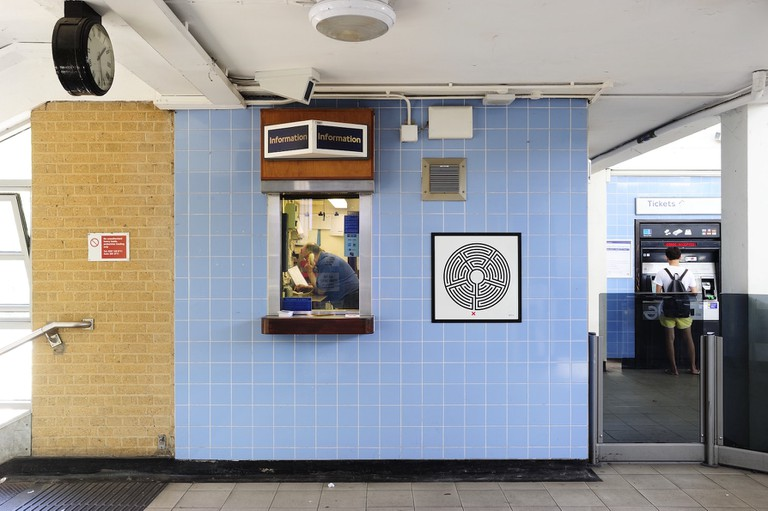 Mark Wallinger, 'Labyrinth', Northolt station, 2013. Commissioned by Art on the Underground