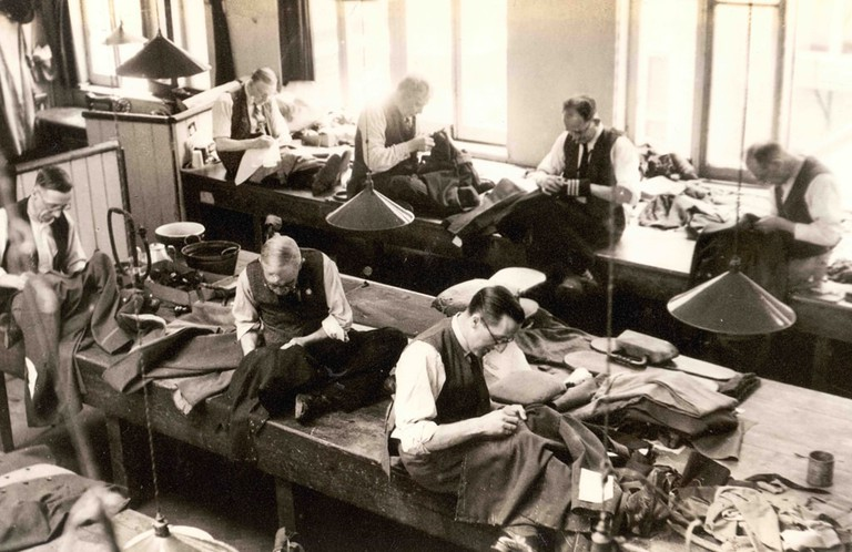 OLD WORKSHOP AT HENRY POOLE CIRCA 1944 copy