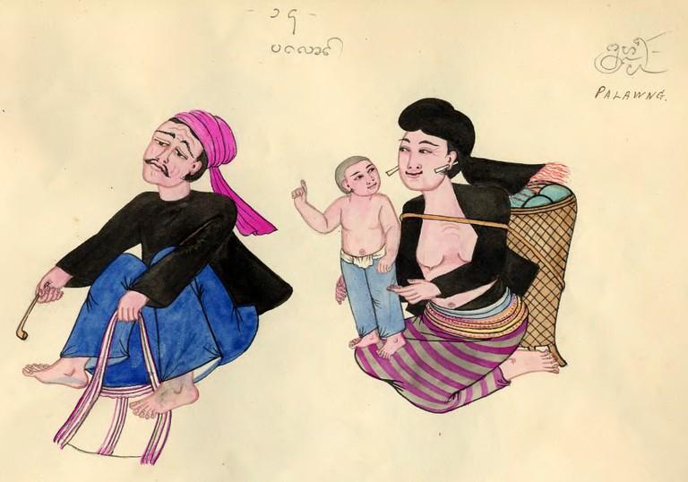 Palaung_depiction,_1900s