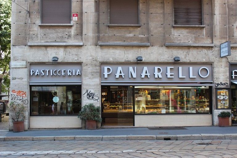 Pastry shop and bakery, Pasticceria Panarello in Milan, Italy