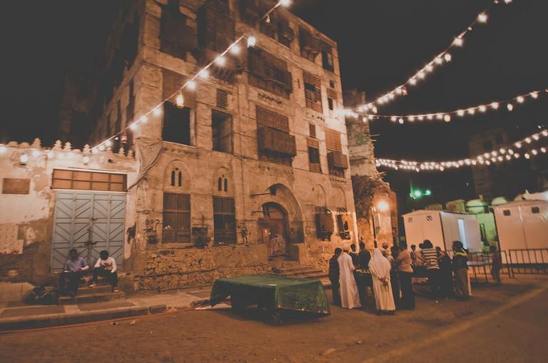 Al Balad streets decorated for Ramadan