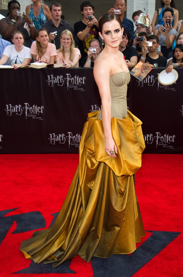 Emma Watson wearing Bottega Veneta at the premiere for 'Harry Potter and the Deathly Hallows: Part 2'
