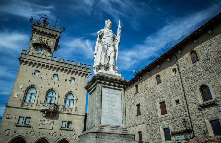 A piazza in the republic of San Marino, Italy | © Vid Ponikvar/Sportida/SIPA/REX/Shutterstock
