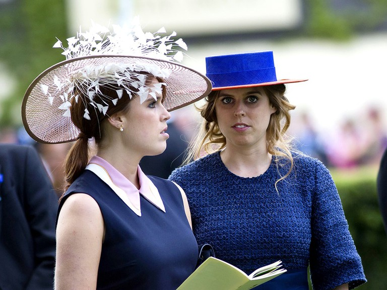 Princess Beatrice and Princess Eugenie at Royal Ascot Ladies Day