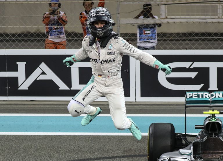 Nico Rosberg winning the 2016 Formula One World Championship