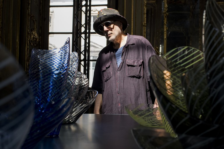 Ron Arad with his Concentrics Collection for Nude 2