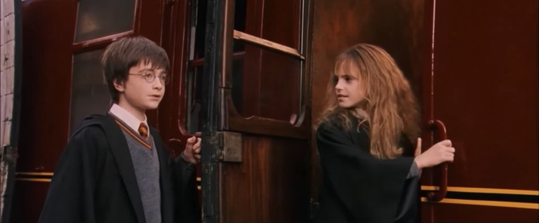 Harry at Hogsmeade Station