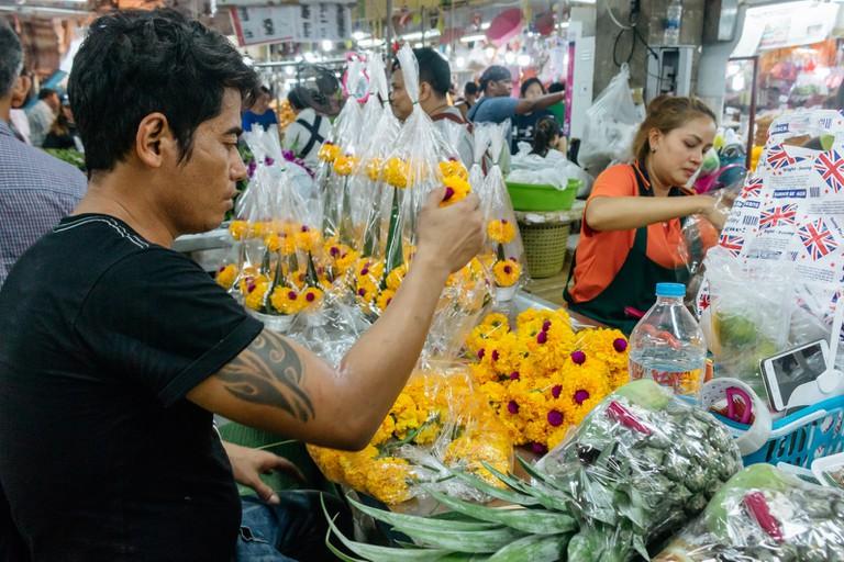FLOWER MARKET-CHANGCHUI-BANGKOK-THAILAND-