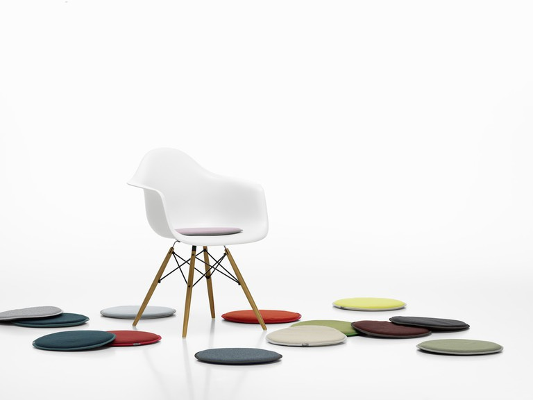 Jongerius' colourful Seat Dots for Vitra's Eames chairs