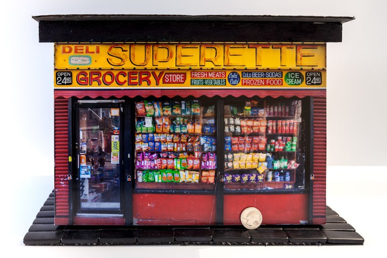 Model bodega storefront for 'Mom-and-Pops of the LES'