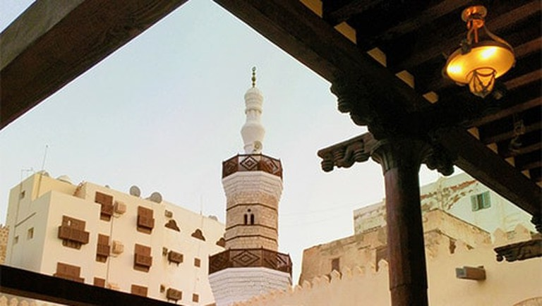 Al Shafi mosque was built with sea mud, Mangab stones and wood