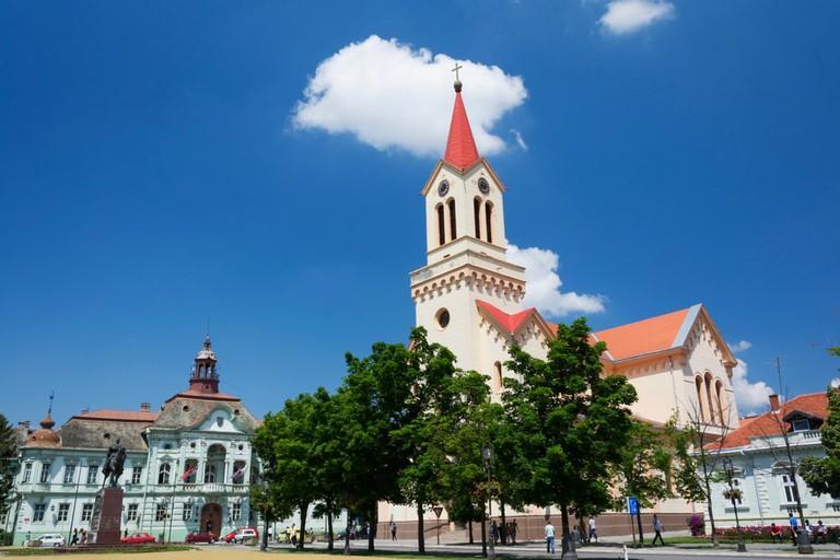 Roman Catholic Church of St. John of Nepomuk, Cathedral in Zrenjanin, Serbia