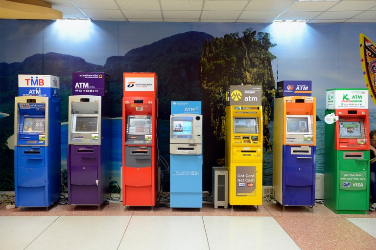 ATM at the airport of Phuket in Thailand