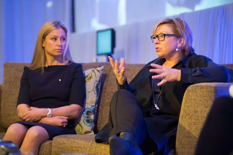 "Alisa Camplin and Rosemary Anne ""Rosie"" Batty participate in panel discussion at Mantra Group conference"