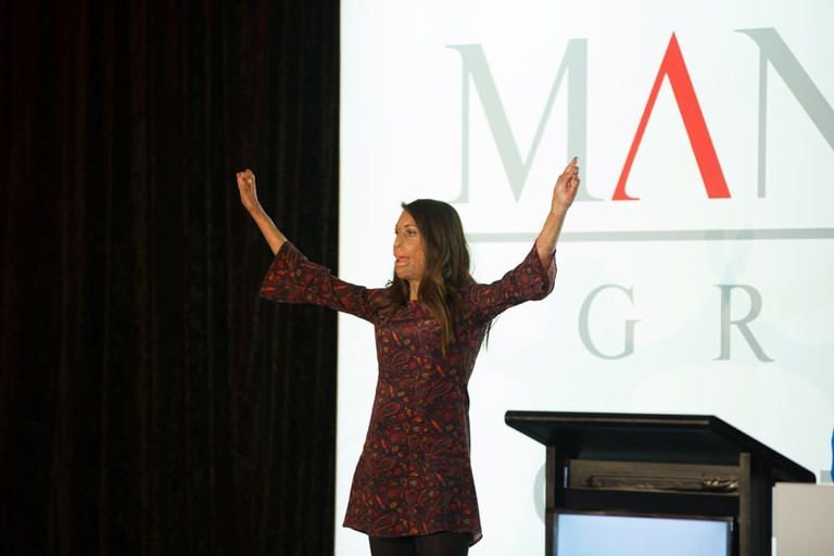 Turia Pitt gives motivational speech at Mantra Group conference