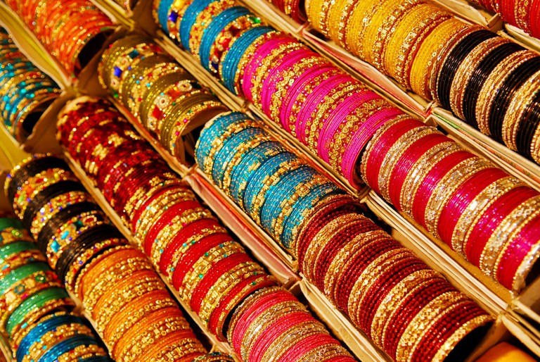 Rows and rows of traditional bangles