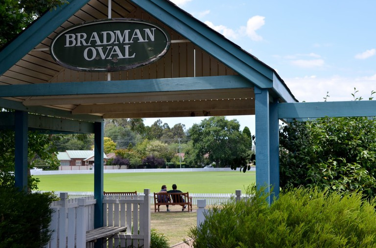 Don Bradman oval cricket ground in Bowral, New South Wales