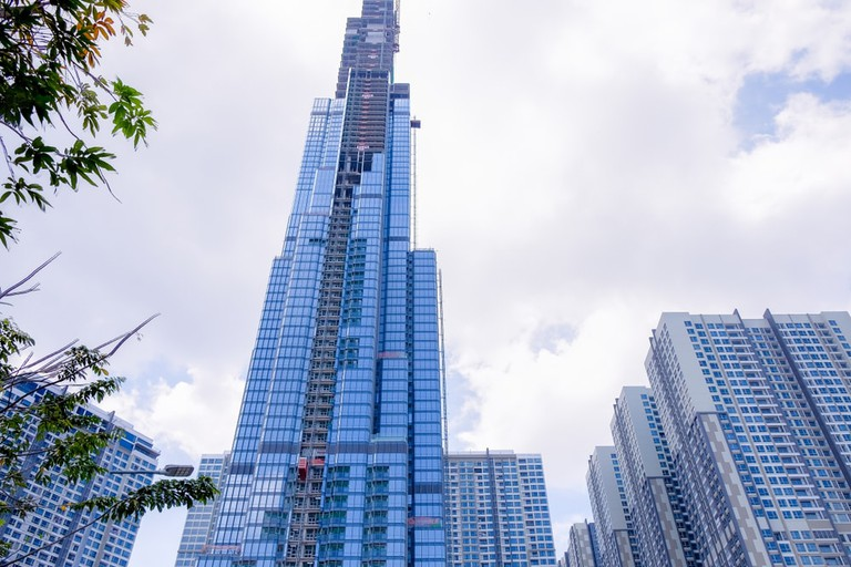 Landmark 81 under construction in Ho Chi Minh City, Vietnam