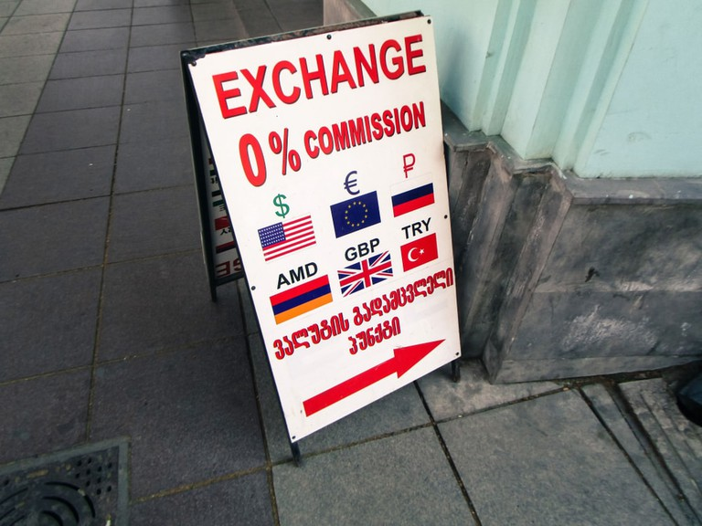 Exchange Rates including Euro, Russian Ruble and Armenian Dram
