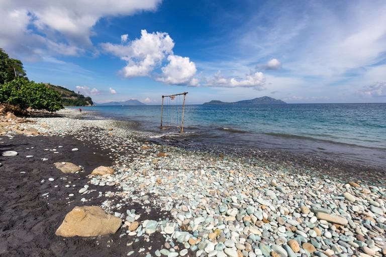 Blue Stone Beach, East Nusa Tenggara, Indonesia