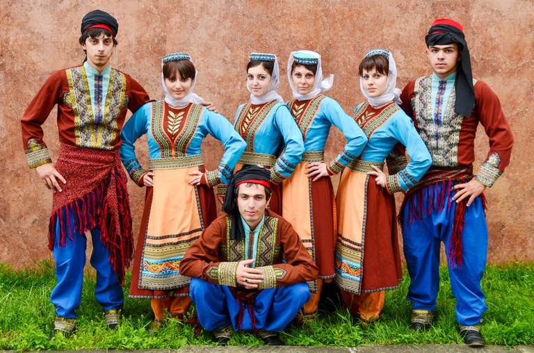 Dancers in Armenian national costume