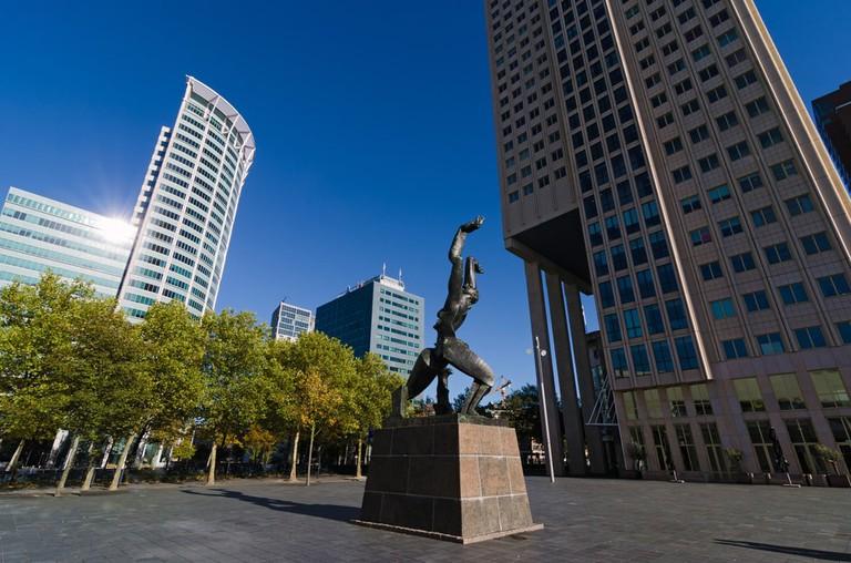 Verwoeste Stad sculpture by Ossip Zadkine, Rotterdam, Netherlands