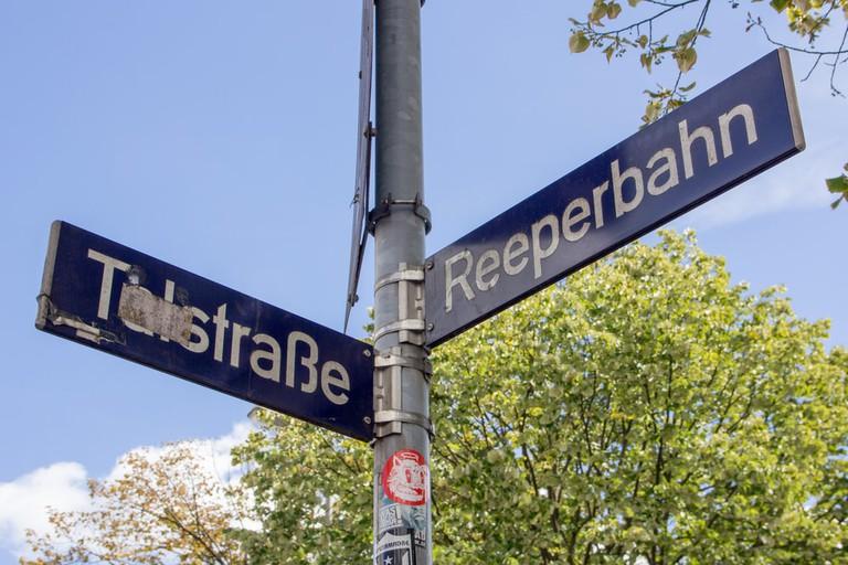 Talstrasse and Reeperbahn in St.Pauli, Hamburg
