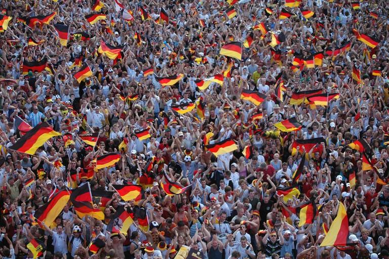 German football supporters in Berlin