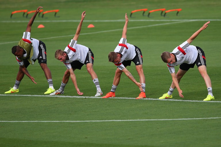 Germany during training session in Sao Januario stadium ahead of the World Cup