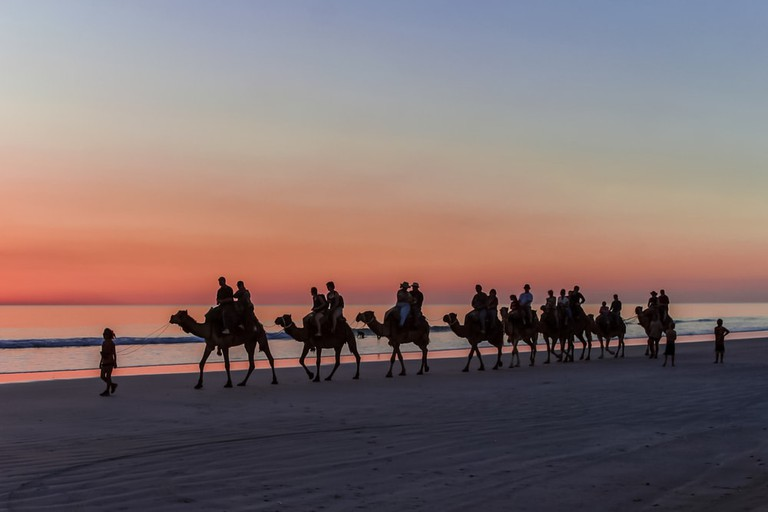 Camel rides on Cable Beach in Broome, Western Australia