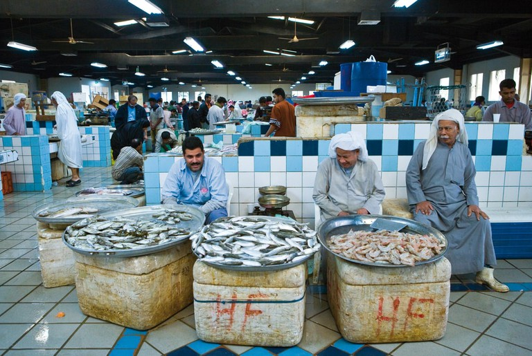 Local vendors of fish in the Central Market, Manama, Bahrain