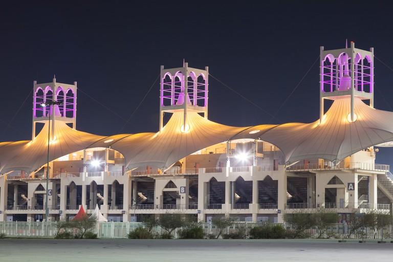 Grandstand at the Bahrain International Circuit