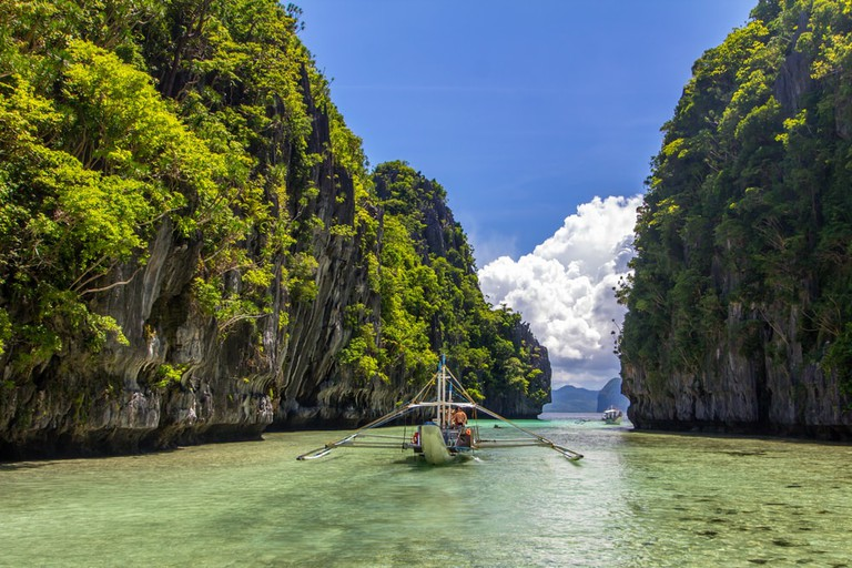 The Big lagoon in El Nido, Philippines