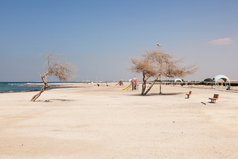 Al Jazayer Beach at Zallaq in Bahrain