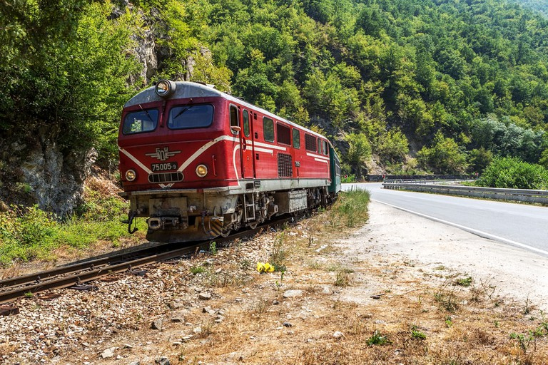 Train, Bansko, Bulgaria