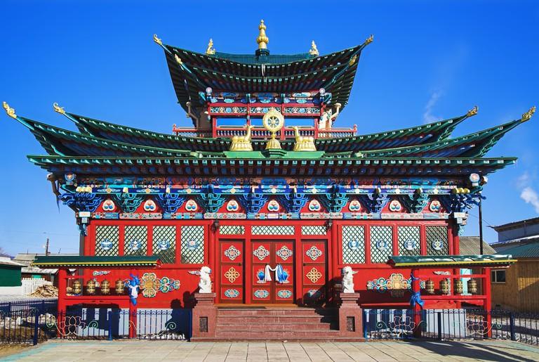 Temple of the Pure Land in the Ivolginsky Datsan, Buryatia, Russia