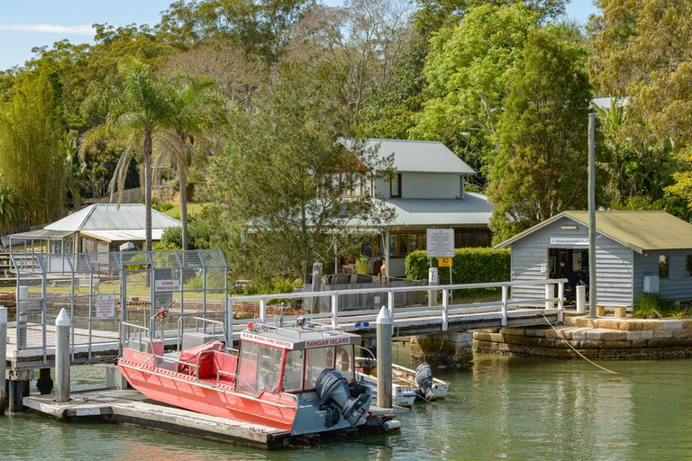 Dangar Island Public Wharf a stopping point for the Hawkesbury River mail boat service