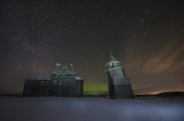 Northern lights, Russia