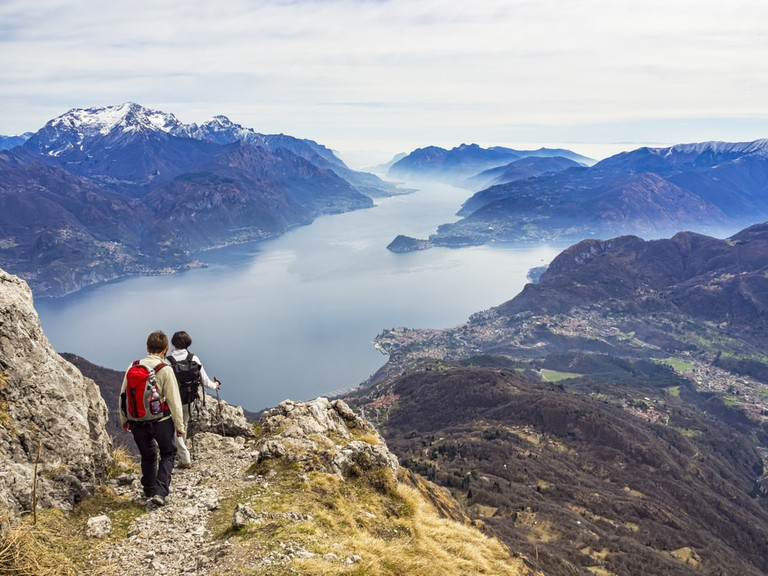 Hikers above Lake Como, Northern Italy | © Colombo Nicola/Shutterstock