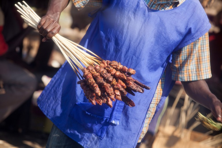 Ugandan meat served straight from the grill