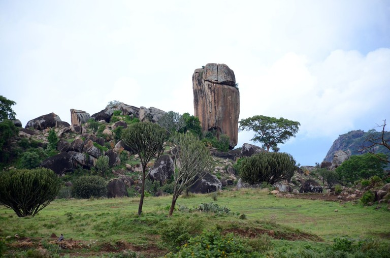 A rock formation in Karamoja region of northeastern Uganda