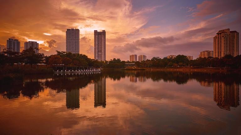 Desa Parkcity during sunset in Kuala Lumpur