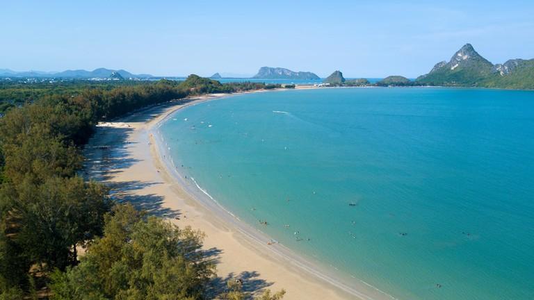 Ao Manao beach bay in the Prachuap Khiri Khan province, Thailand